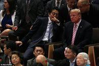 گزارش تصویری/ ترامپ و ملانیا در حال تماشای کشتی سومو