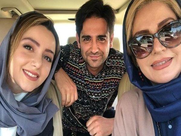 عکس ماشین سواری نازنین بیاتی و امیر حسین آرمان