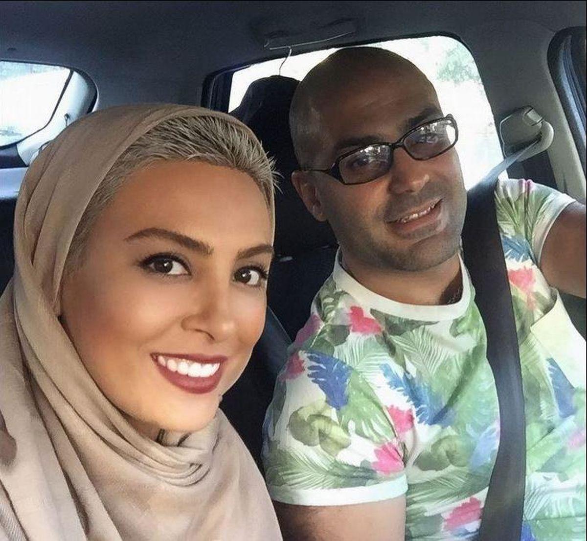 کتک کاری حدیثه تهرانی با همسرش! +فیلم