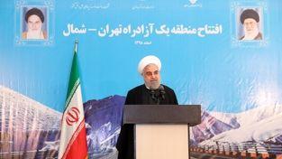 گزارش تصویری/ افتتاح رسمی آزادراه تهران - شمال توسط رئیس جمهور