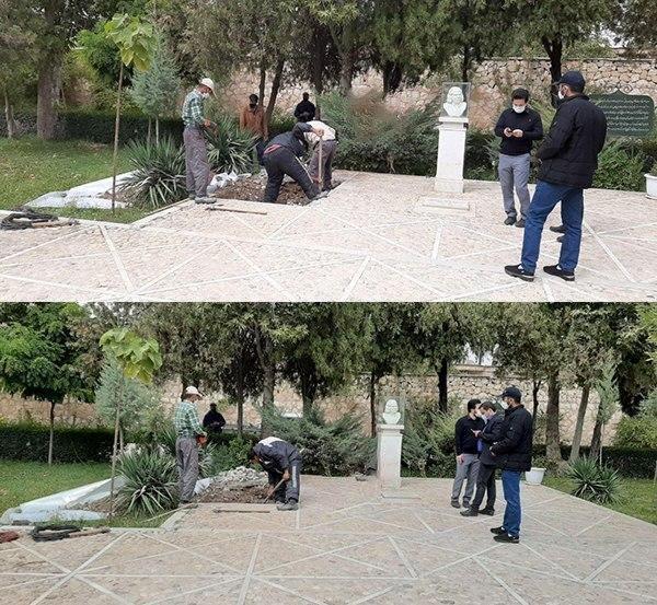 اولین عکس از محل دفن پیکر استاد محمد رضا شجریان + عکس