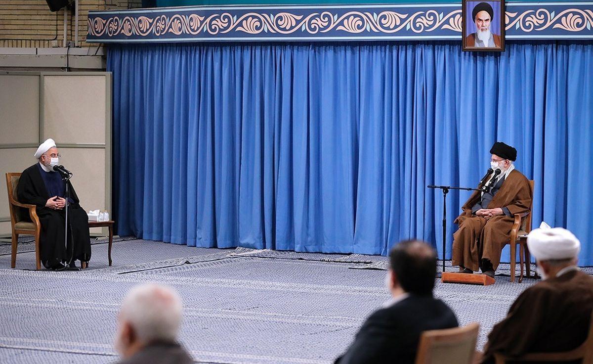 واکنش رهبر انقلاب به هتک حرمت حسن روحانی