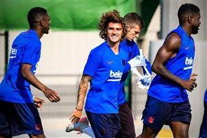 ببینید اولین حضور گریزمان در تمرینات بارسلونا