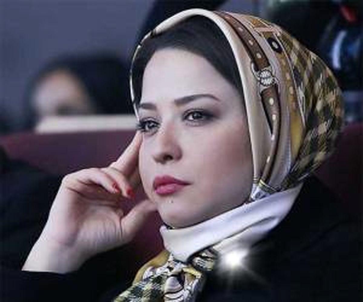 عکس مهراوه شریفی نیا در پشت صحنه سریال دل