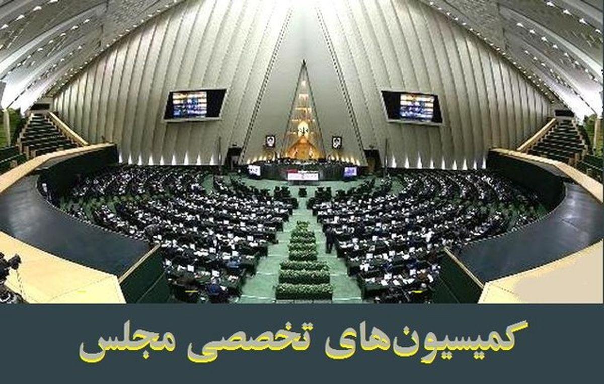 دستور کار کمیسیونهای تخصصی مجلس