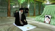 گزارش تصویری؛ حضور رهبر انقلاب در مرقد مطهر امام خمینی(ره) و گلزار شهدا