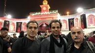 پرویز پرستویی به همراه حسین محب جلیلی و عادل معمارنیا در پیادهروی اربعین + عکس