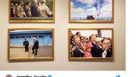 تصویر رهبر کره شمالی روی دیوار کاخ سفید