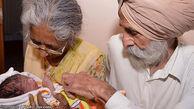 زن 70 ساله هندی بچه دار شد