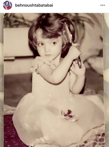 بهنوش طباطبایی در کودکی + عکس