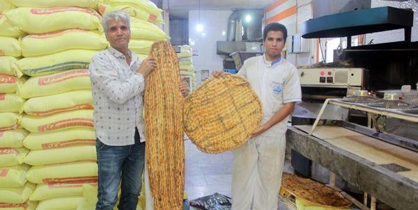 بزرگترین نان بربری در قشم پخت شد