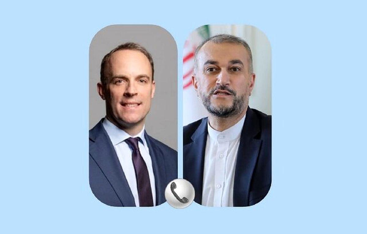 تماس تلفنی وزیر انگلیسی با امیرعبداللهیان