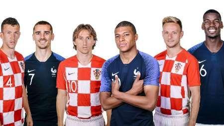 ترکیب کرواسی و فرانسه برای فتح جام مشخص شد