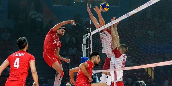 والیبال ایران اولین فرصت را از دست داد؛ امید به برد مقابل برزیل