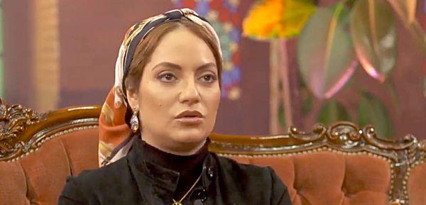 عکس مهناز افشار در اتاق گریم شبکه عربستانی