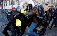 درگیری جلیقه زردها و پلیس در پاریس + گزارش تصویری