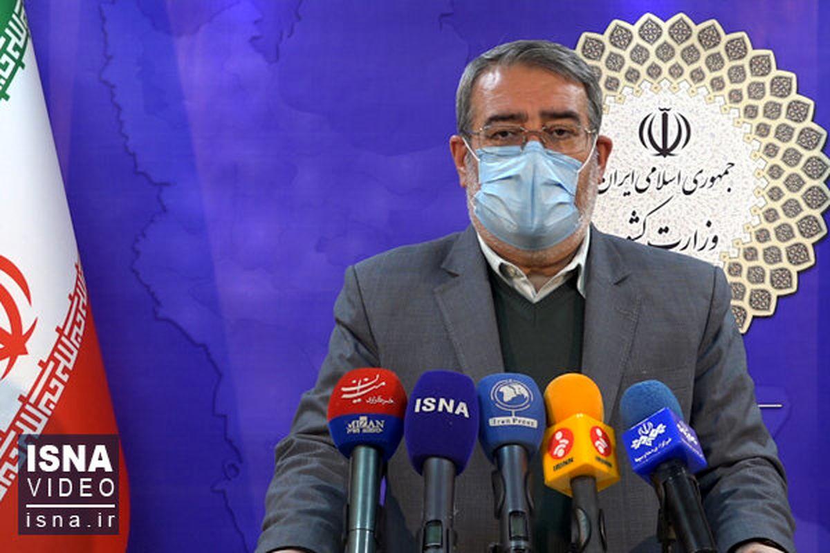 وزیر کشور: انتخابات ۱۴۰۰ باید با مشارکت بالا برگزار شود؛ پای آبرو در میان است
