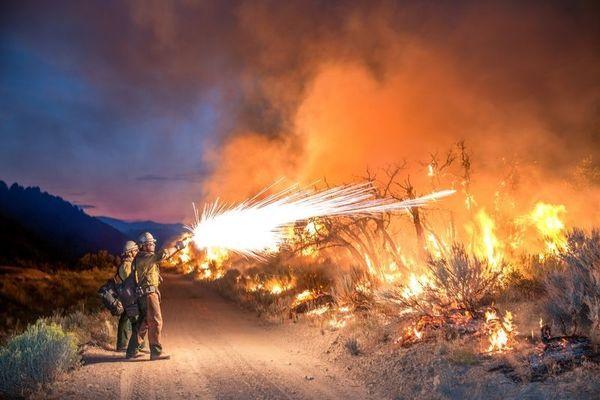 عکس / جنگ با آتش در عکس روز نشنال جئوگرافیک