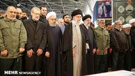 عبارات رهبرانقلاب در نماز بر پیکر «سلیمانی»/«شهید غوطه ور در خون»