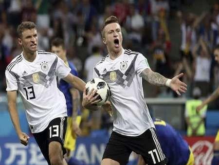 خوش شانسی آلمان در دقیقه 95
