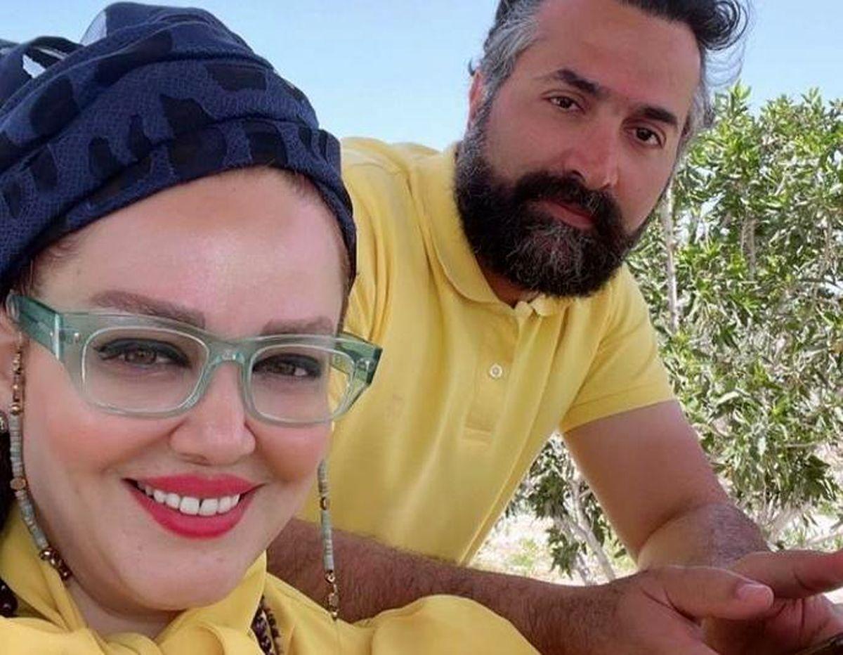 استایل خالخالی بهاره رهنما در کنار حاجی سوژه شد +تصاویر عاشقانه