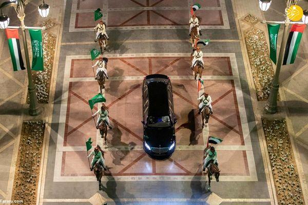اسکورت متفاوت ولیعهد سعودی در امارات +عکس