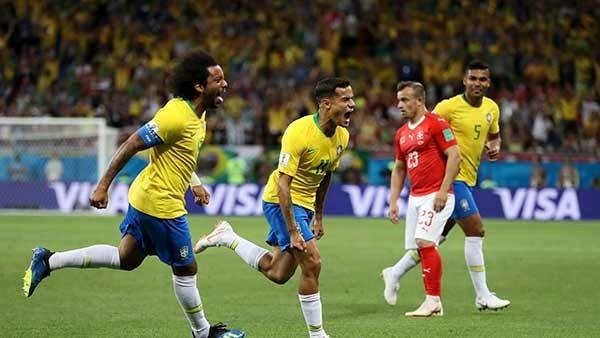 کوتینیو بهترین بازیکن دیدار برزیل - سوئیس