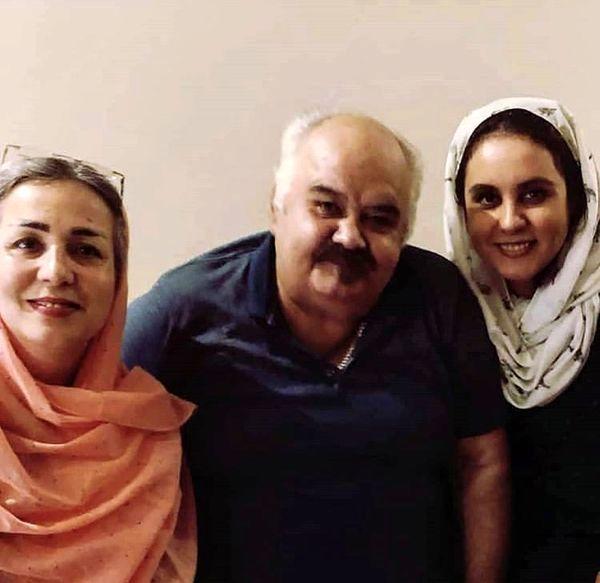 اکبر عبدی و همسر