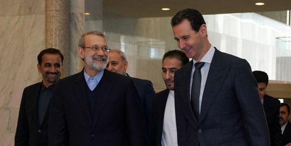 لاریجانی بابشار اسد در دمشق دیدار کرد