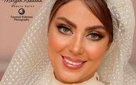 عکس نیلوفر شهیدی در لباس عروسی
