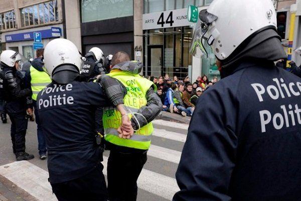 اعتراضات بلژیک؛ بازداشت400نفر در بروکسل/ تخلیه ساختمانهای کمیسیون و پارلمان اروپا