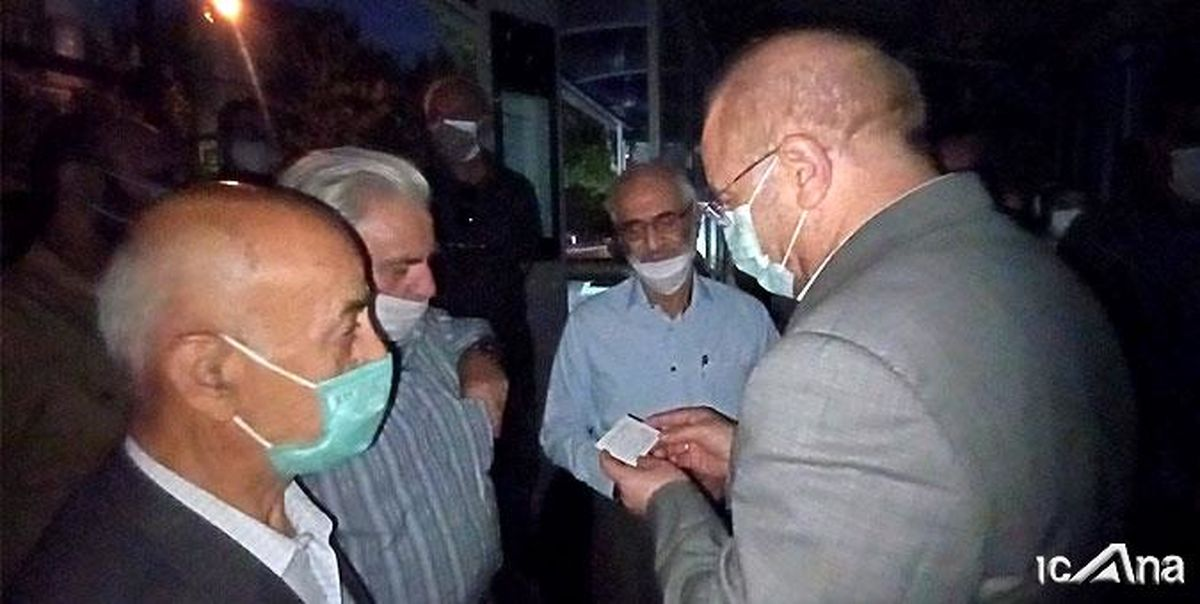 بازدید سرزده بامدادی رئیس مجلس از صف متقاضیان واکسن کرونا