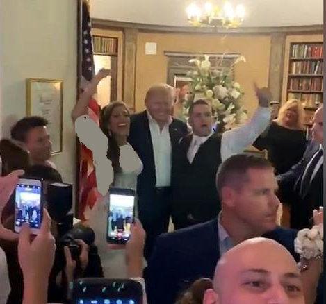 حضور غیرمنتظره ترامپ در یک مراسم عروسی