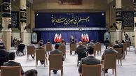 حدیث نصب شده در محل سخنرانی رهبر انقلاب در دیدار قهرمانان المپیک و پارالمپیک ۲۰۲۰