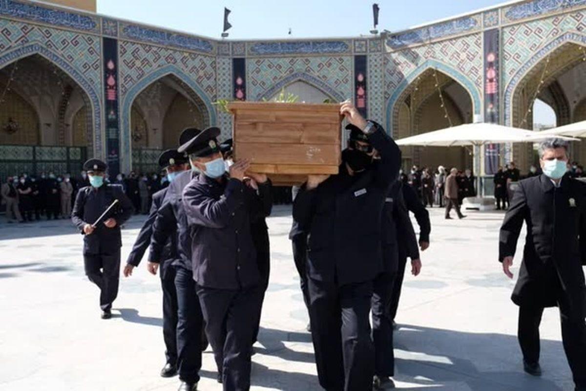 پیکر مرحوم خجسته در حرم مطهر حضرت امام رضا(ع) به خاک سپرده شد