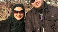 عکس لو رفته لعیا زنگنه و همسرش