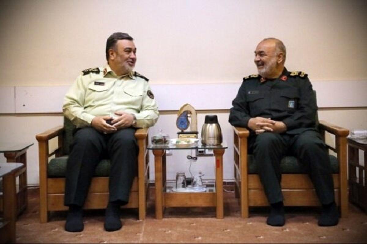 پیام فرمانده کل سپاه به فرمانده ناجا