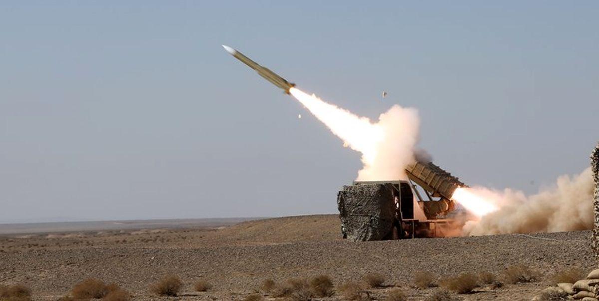 غرش موشک های بومی مرصاد 16 در آسمان اقتدار دفاعی ایران