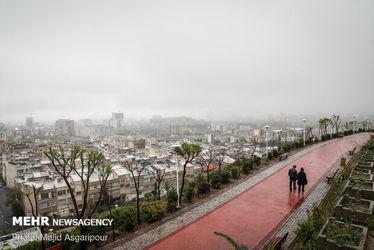 هوای مه آلود تهران
