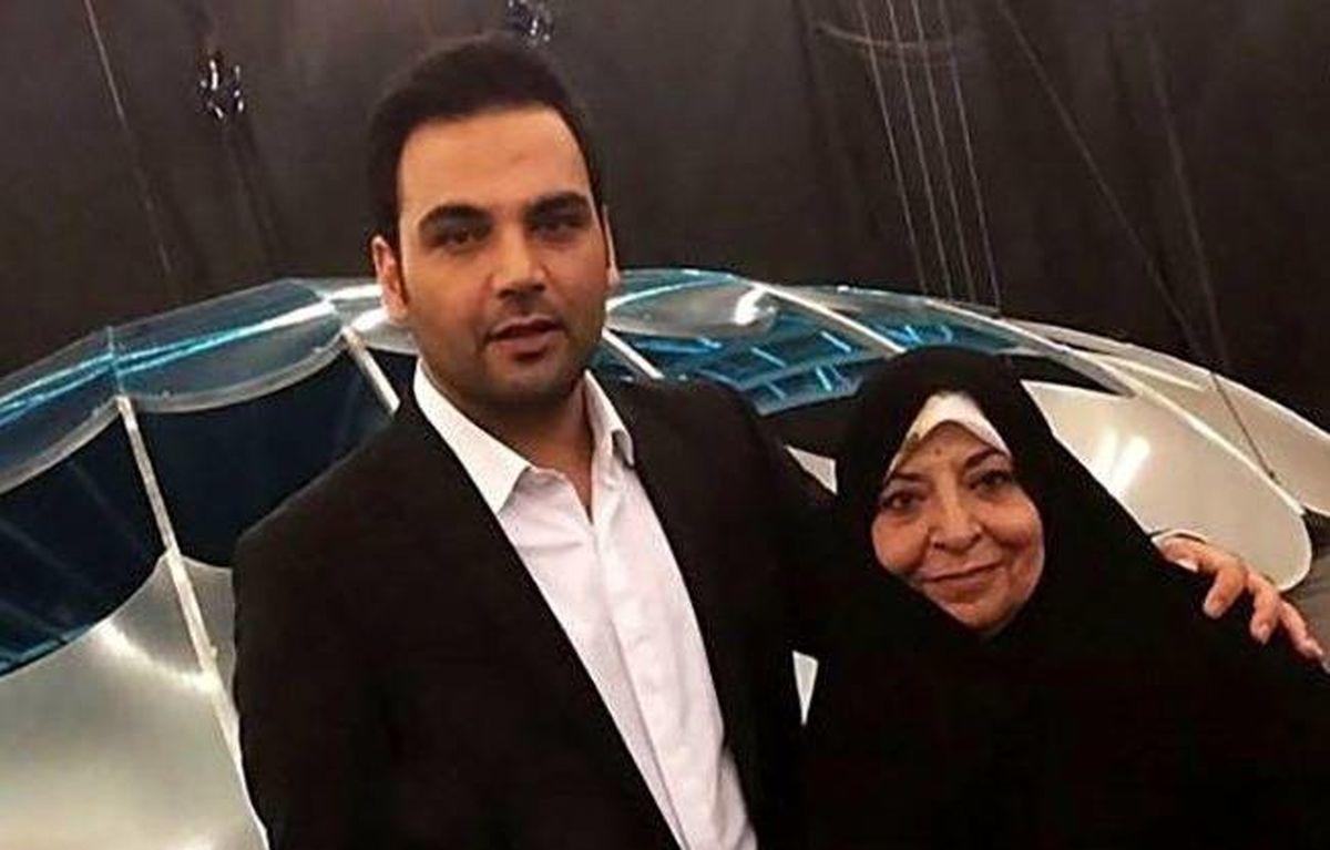 عکسی از احسان علیخانی و مادرش
