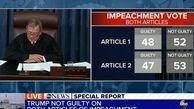 ترامپ با  رای سناتورها تبرئه شد