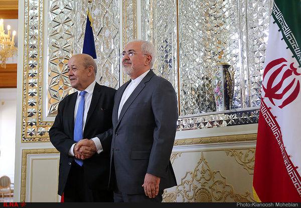 رایزنی لودریان با همتای ایرانی خود در تهران
