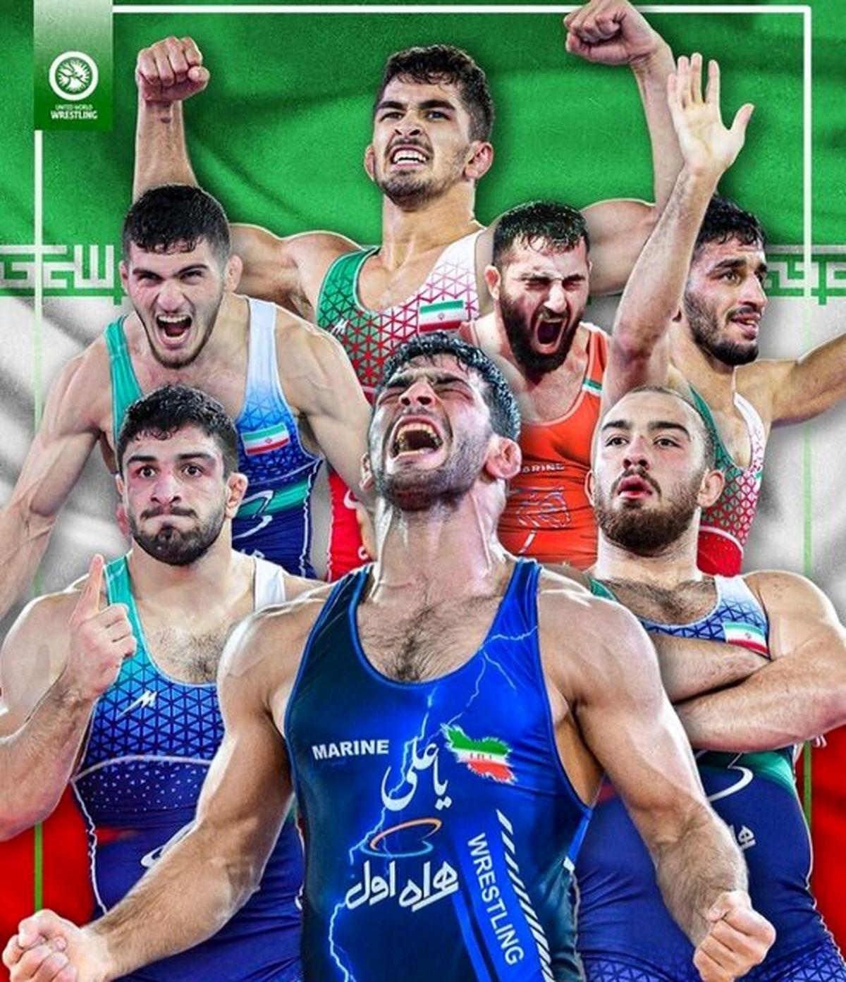 واکنش جالب اتحادیه جهانی کشتی به مدالهای ایران