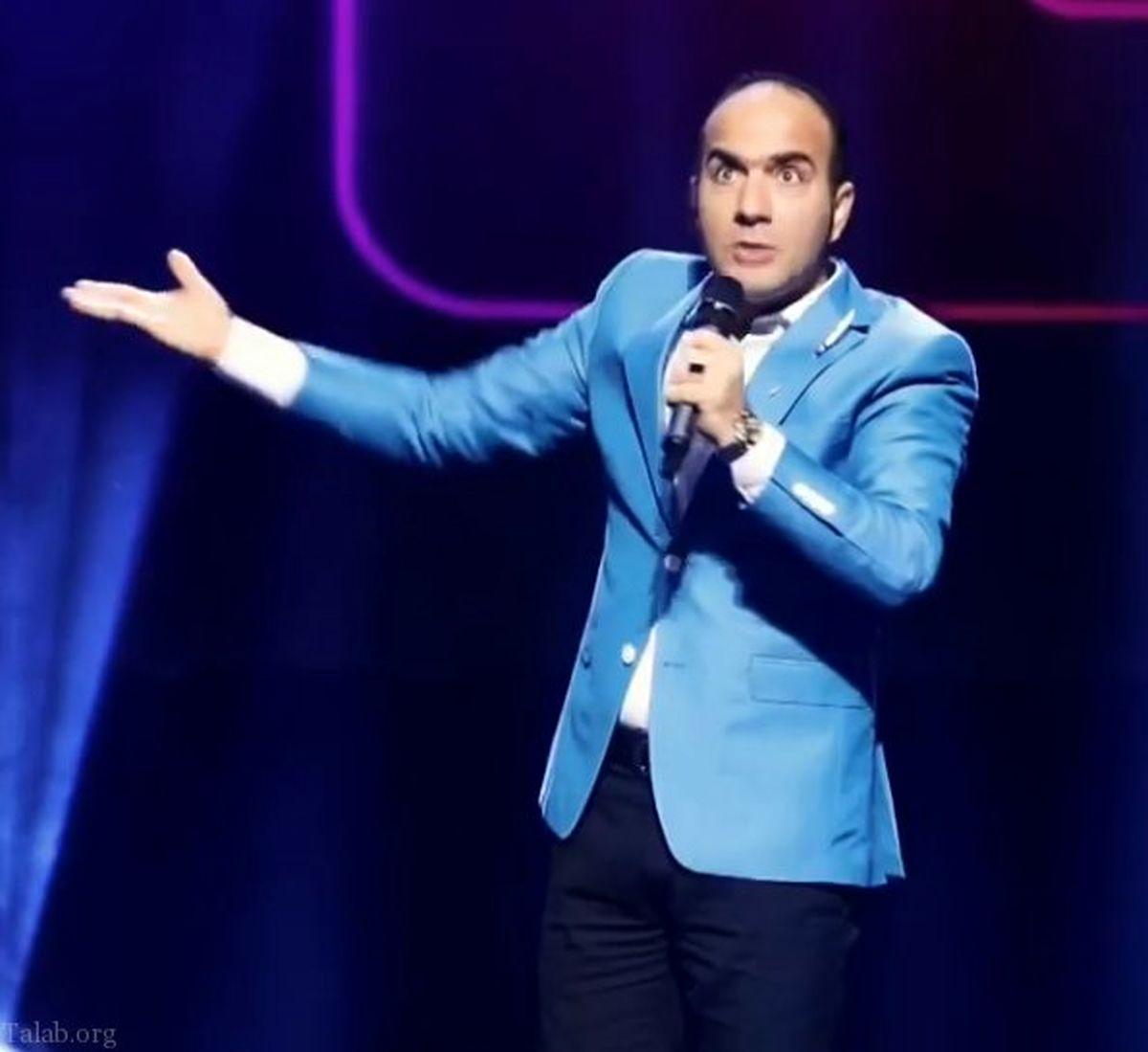 اجرای خنده دار حسن ریوندی در کیش؛ فیلم شوخی با شهاب حسینی!