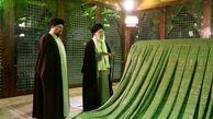 رهبر انقلاب اسلامی در مرقد امام خمینی(ره) بنیانگذار کبیر انقلاب اسلامی و گلزار شهدا حضور یافتند