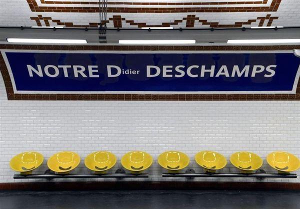 نامگذاری یک ایستگاه مترو در فرانسه به افتخار قهرمانی به نام دیدیه دشان  + عکس
