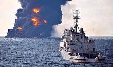 لکه نفتی سانچی به سواحل ژاپن رسید