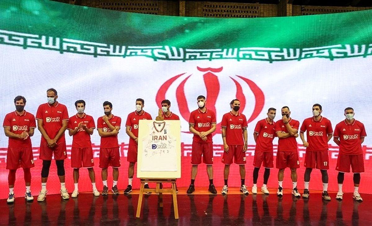 مراسم بدرقه تیم ملی بسکتبال ایران برای اعزام به المپیک توکیو برگزار شد