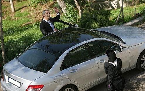 بنز میلیاردی و گرانقیمت مهران مدیری لو رفت + عکس دیده نشده