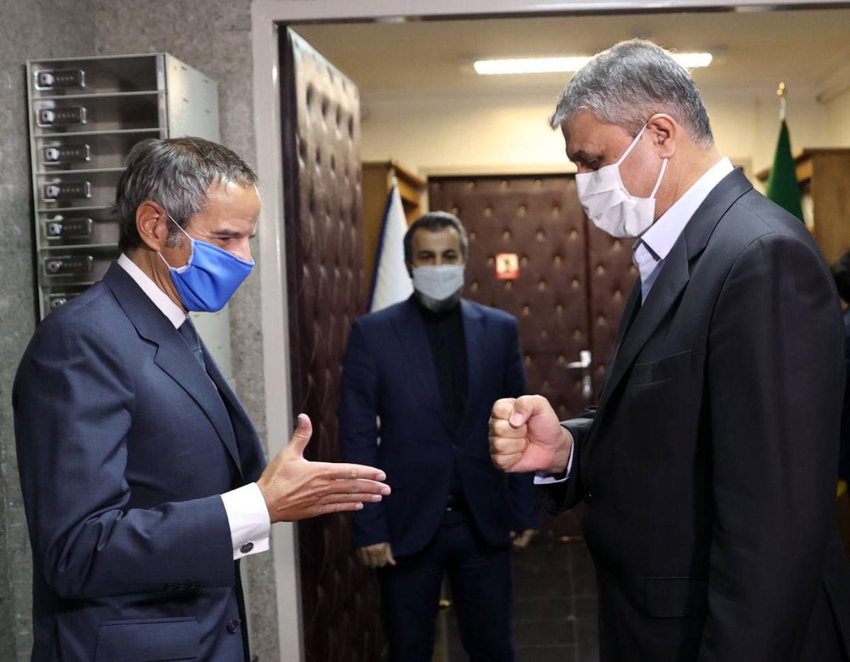 تصویر معنادار از دیدار رئیس جدید سازمان انرژی اتمی با گروسی